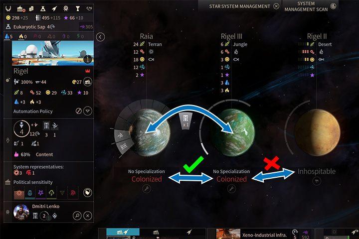 Przenosić mieszkańców możesz tylko między skolonizowanymi planetami w systemie. - Kolonizacja, migracja i ewakuacja w Endless Space 2 - Endless Space 2 - poradnik do gry