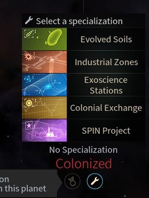 Specjalizacje planet - Usprawnienia, rozbudowa i zasięg wpływów systemów w Endless Space 2 - Endless Space 2 - poradnik do gry