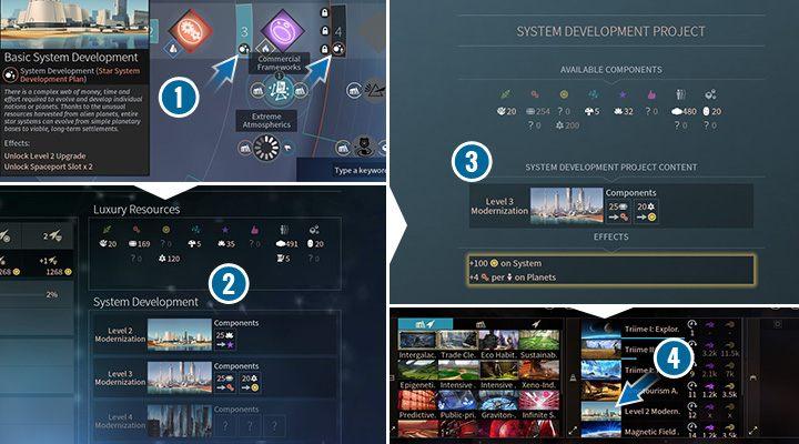 Budowanie następnych poziomów Rozwoju Systemu zajmuję trochę czasu, ale jest to bardzo opłacalna i praktyczna inwestycja. - Usprawnienia, rozbudowa i zasięg wpływów systemów w Endless Space 2 - Endless Space 2 - poradnik do gry