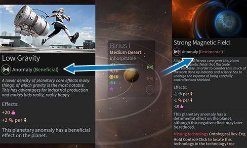 Anomalie zapewniają różne efekty. - Planety oraz anomalie - Endless Space 2 - poradnik do gry