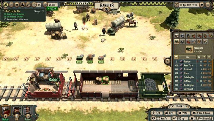 Jeden z obozów bandytów - Porównanie sposobów zarabiania | Transport - Bounty Train - poradnik do gry