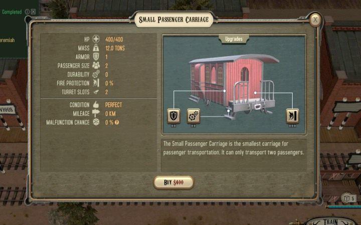 Jeden z wagonów do transportu pasażerów - Porównanie sposobów zarabiania | Transport - Bounty Train - poradnik do gry