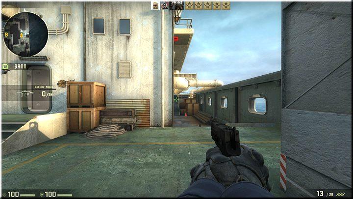 Przejście z różnicą poziomów w którym mogą pojawić się przeciwnicy - Misja 11 - Shipped: Boskie przeznaczenie - CS GO - poradnik do gry