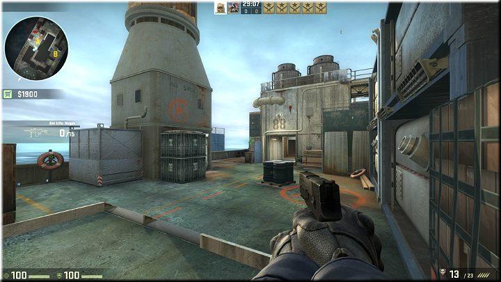 Stojąc w rogu można mieć oko na prawie całą mapę - Misja 11 - Shipped: Boskie przeznaczenie - CS GO - poradnik do gry
