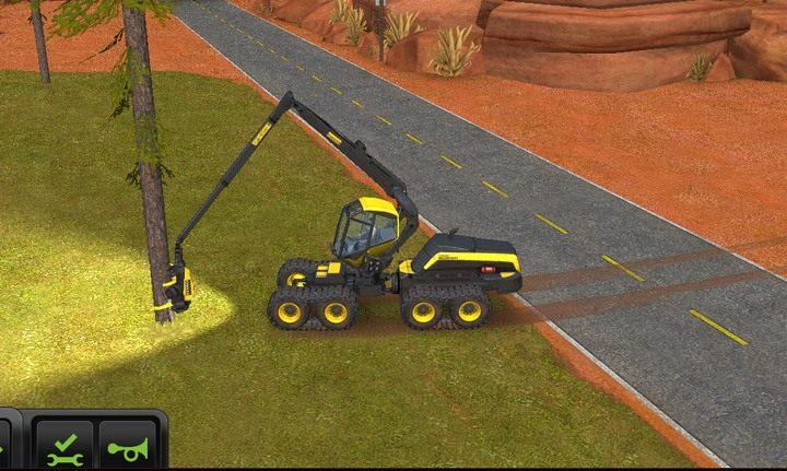 Gdy ramię maszyny przylgnie do drzewa, możesz rozpocząć wycinkę - Leśnictwo | Dla początkujących - Farming Simulator 18 - poradnik do gry