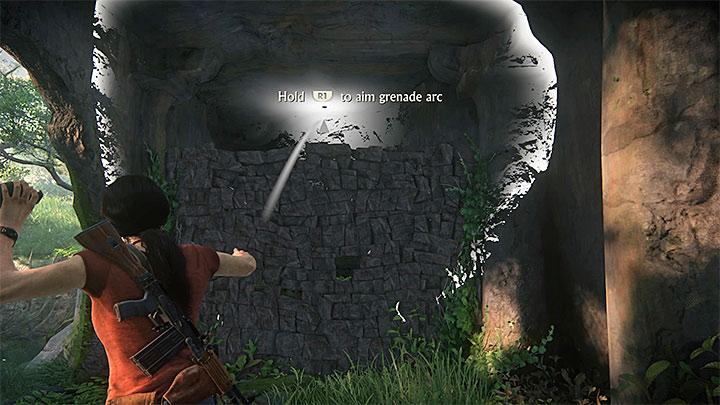 Po walkach zbadaj ciała pokonanych wrogów i odszukaj granaty przy jednym z nich - 3 - Powrót do korzeni | Opis przejścia - Uncharted: Zaginione Dziedzictwo - poradnik do gry