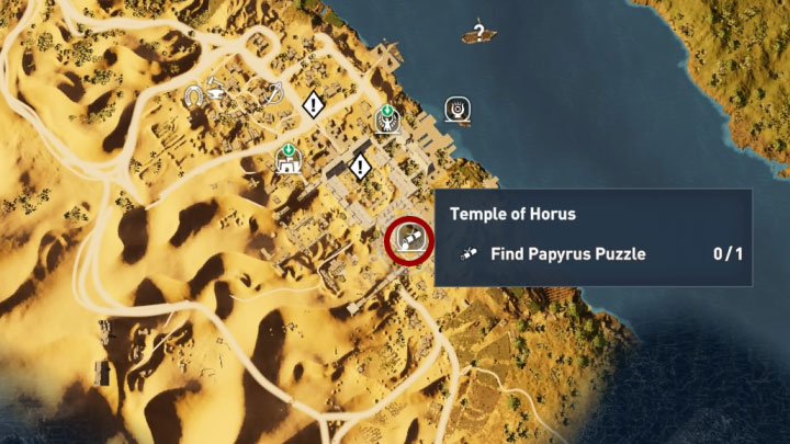 Papirus ten odnajduje się w lokacji Temple of Horus w prowincji Sapi-Res Nome - Papirusy Sapi-Res Nome - Assassins Creed Origins - poradnik do gry
