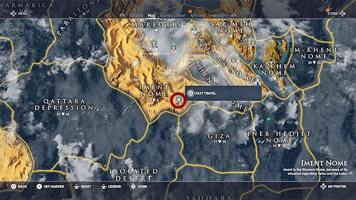 Musisz przenieść się do teraz do prowincji Iment Nome - Papirusy Sapi-Res Nome - Assassins Creed Origins - poradnik do gry
