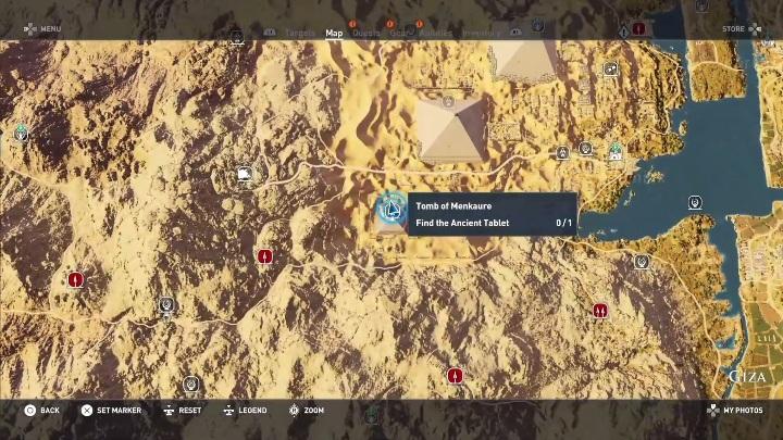 Ten grobowiec znajduje się w piramidzie - Grobowiec Mykerinosa - Tomb of the Menkaure | Giza | Grobowce - Assassins Creed Origins - poradnik do gry