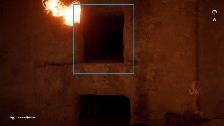 Wskocz na półkę, a z niej wskocz w dziurę w ścianie - Grobowiec Mykerinosa - Tomb of the Menkaure | Giza | Grobowce - Assassins Creed Origins - poradnik do gry