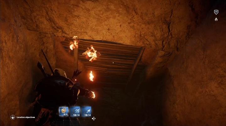 Gdy dobiegniesz do końca drogi spójrz w górę - Grobowiec Mykerinosa - Tomb of the Menkaure | Giza | Grobowce - Assassins Creed Origins - poradnik do gry