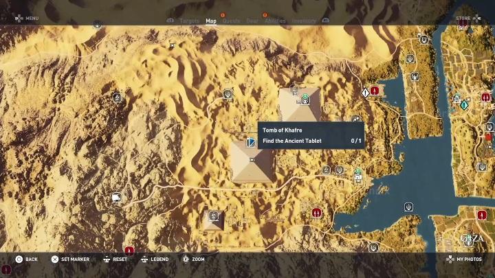 Aby wejść do tego grobowca musisz dostać się do wejścia na piramidzie - Grobowiec Chefrena - Tomb of the Khafre | Giza | Grobowce - Assassins Creed Origins - poradnik do gry