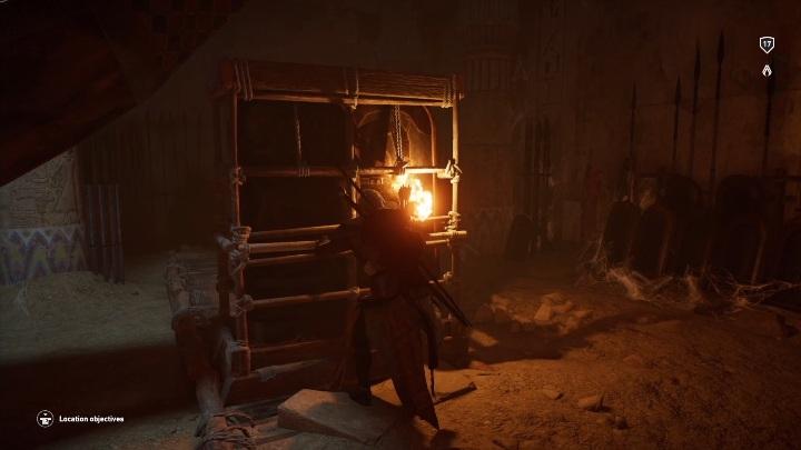 Tą drogą dotrzesz do pomieszczenia z gondolą - Grobowiec Chefrena - Tomb of the Khafre | Giza | Grobowce - Assassins Creed Origins - poradnik do gry