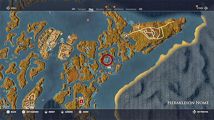 Zagadkę rozwiązuje się w tej samej prowincji - Papirusy w Herakleion Nome | Assassins Creed Origins - Assassins Creed Origins - poradnik do gry