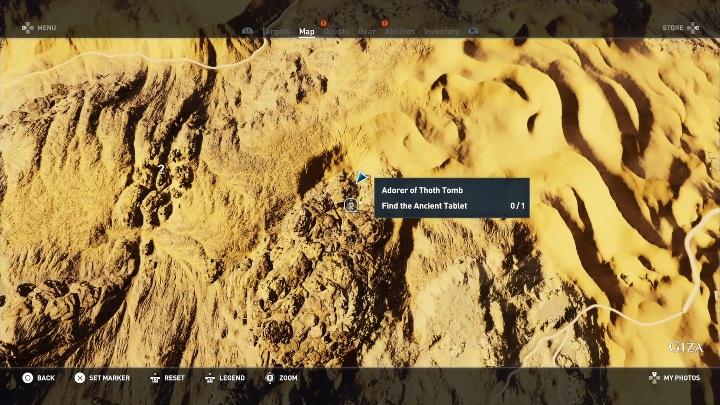 Aby dotrzeć do tego grobowca musisz minąć wiele przeciwników - Grobowiec Wyznawcy Thota - Adorer of Thoth Tomb | Giza | Grobowce - Assassins Creed Origins - poradnik do gry