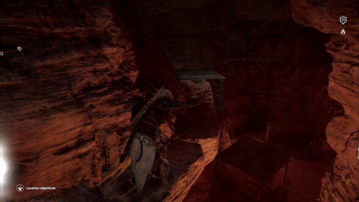 Możesz spokojnie przejść po skałach omijając przeciwników - Grobowiec Wyznawcy Thota - Adorer of Thoth Tomb | Giza | Grobowce - Assassins Creed Origins - poradnik do gry