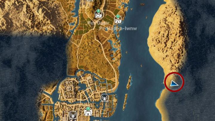 Po dotarciu na wschodni brzeg Nilu udaj się dla odmiany na południe - Papirusy w Memphis | Assassins Creed Origins - Assassins Creed Origins - poradnik do gry