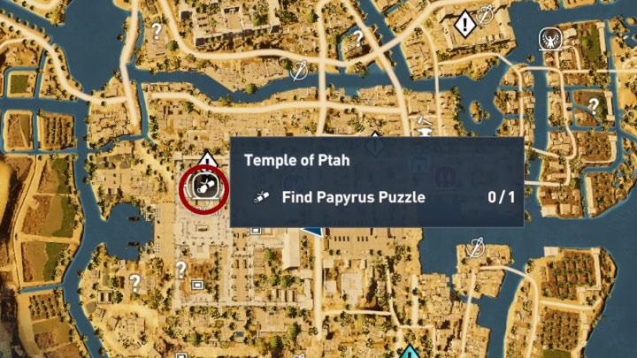 Papirus ten odnajduje się w lokacji Temple of Ptah w prowincji Memphis - Papirusy w Memphis | Assassins Creed Origins - Assassins Creed Origins - poradnik do gry