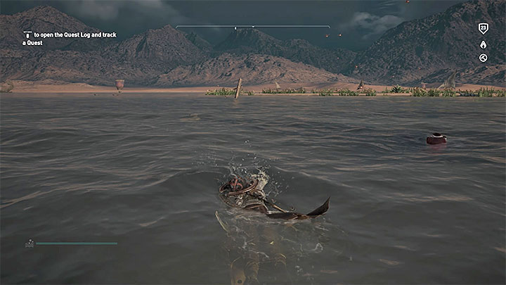 Pozostań w mieście Memfis i zainteresuj się dwoma ogromnymi posągami znajdującymi się przy wodzie na wschodnim krańcu miasta - Papirusy w Memphis | Assassins Creed Origins - Assassins Creed Origins - poradnik do gry
