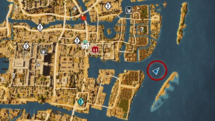 Zanurkuj i zlokalizuj leżący na dnie skarb - Papirusy w Memphis | Assassins Creed Origins - Assassins Creed Origins - poradnik do gry