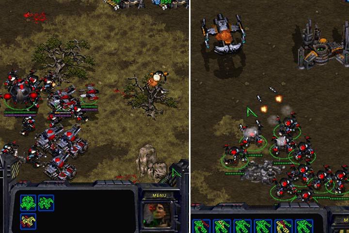 Duża grupa czołgów powoli wtoczy się do bazy. Trzymaj w odwodzie oddział przeciwlotniczy. Wróg posiada spore ilości jednostek latających w swojej bazie. - Misja 7 - The Trump Card | Kampania Terran - StarCraft: Remastered - poradnik do gry