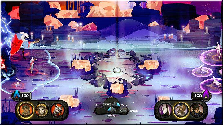 Dynamiczna rozgrywka 3 na 3, której celem jest przeniesienie kuli z środka areny do stosu przeciwnika, aby zdobyć punkty - Podstawy rozgrywki - Pyre - poradnik do gry