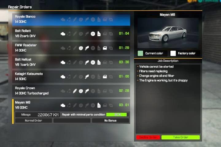 Zlecenia I Postepy W Grze Podstawy Car Mechanic Simulator 2018