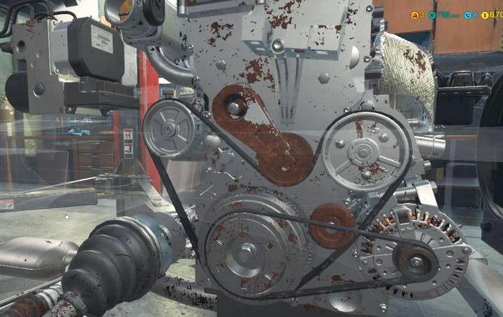 Zniszczone części łatwo dostrzec - są mocno zardzewiałe - Zlecenie 2 - Royale Crown   Opis przejścia Car Mechanic Simulator 2018 - Car Mechanic Simulator 2018 - poradnik do gry