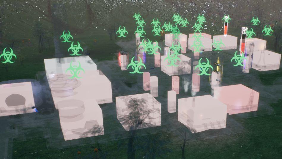 Choroba atakująca nieprzygotowaną kolonię, szybko rozprzestrzeniła się po wszystkich budynkach. - Zagrożenia | Podstawy - Aven Colony - poradnik do gry