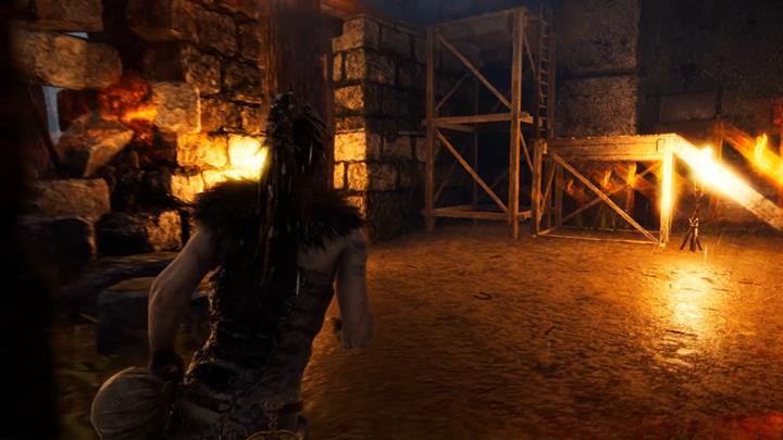 Wejdź do środka zniszczonej wieży i odblokuj drzwi. - Trzecie wrota   Legowisko Valravna   Opis przejścia - Hellblade: Senuas Sacrifice - poradnik do gry