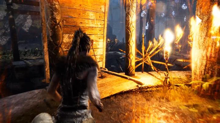Po wyjściu z wieży opuść most i przejdź nim do wrót. - Trzecie wrota | Legowisko Valravna | Opis przejścia - Hellblade: Senuas Sacrifice - poradnik do gry