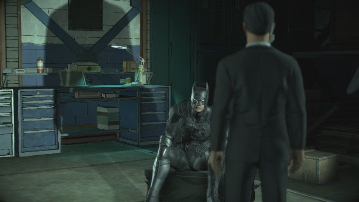 Niezależnie od wyboru rozpocznie się jeszcze dialog z jednym z agentów - Rozdział 1 - A Threat Rises | Epizod 2 - The Pact - Batman: The Telltale Series - The Enemy Within - poradnik do gry