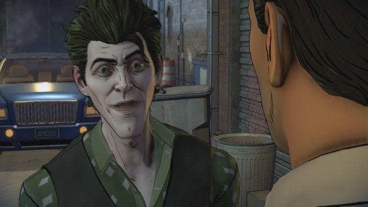 Akcja przeniesie się na zewnątrz, a następnie do samochodu. Nastąpi kontynuacja rozmowy z Johnym. - Rozdział 3 - Unsure Footing | Epizod 2 - The Pact - Batman: The Telltale Series - The Enemy Within - poradnik do gry