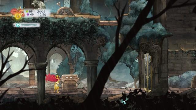 Gdy wyjdziesz z jaskini i pójdziesz w prawo zobaczysz zablokowane drzwi - Rozdział 2 - The Queen of Light | Opis przejścia - Child of Light - poradnik do gry