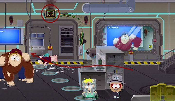 W następnej sali czekają na ciebie zmutowani szóstkoklasiści - Wielkodupność doktora Mephesto | Solucja South Park Fractured But Whole - South Park: The Fractured But Whole - poradnik do gry