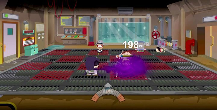 Staraj się spychać oponentów na czerwone pola - po zapełnieniu wskaźnika układ pól zmieni się - Wielkodupność doktora Mephesto | Solucja South Park Fractured But Whole - South Park: The Fractured But Whole - poradnik do gry