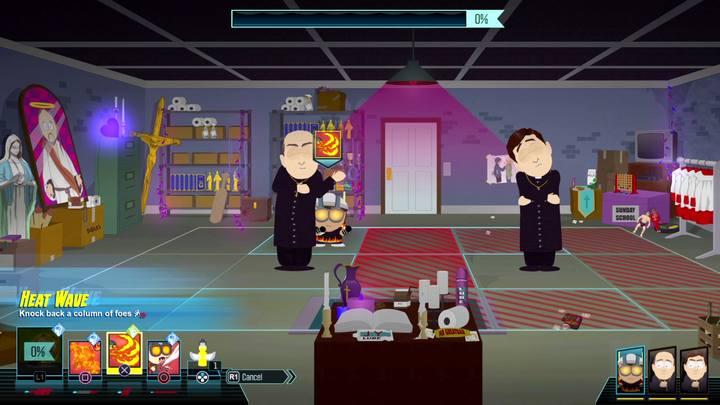 W kościele zmierzysz się w samodzielnym starciu z księżmi, unikaj ich ataków - Pogadanka, Dotyk Wiary, Zaklinacz burrito | Opis przejścia - Zadania główne - South Park: The Fractured But Whole - poradnik do gry