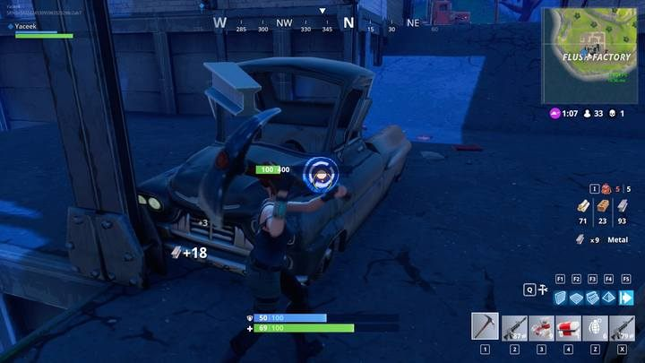 Синие круги сокращают время разрушения объектов. - Как построить в Fortnite Battle Royal? - Fortnite: Battle Royale - Руководство по игре