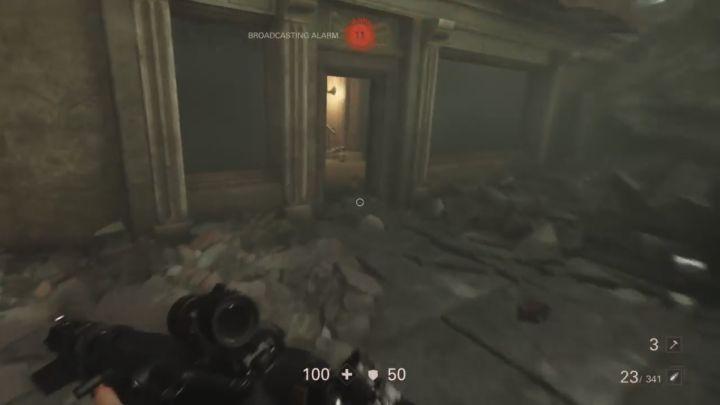 W tym budynku skrywa się poszukiwany cel. - Misje überdowódców - Mahattan - Wolfenstein II: The New Colossus - poradnik do gry
