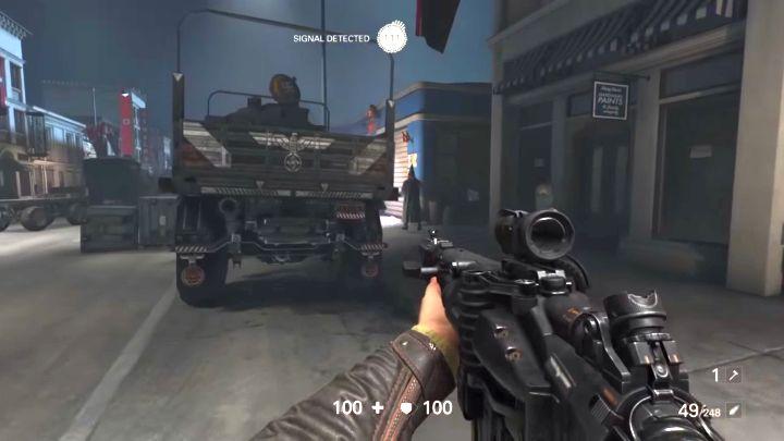 Lepiej eliminować tutejszych wrogów po cichu. - Misje überdowódców - Roswell - Wolfenstein II: The New Colossus - poradnik do gry