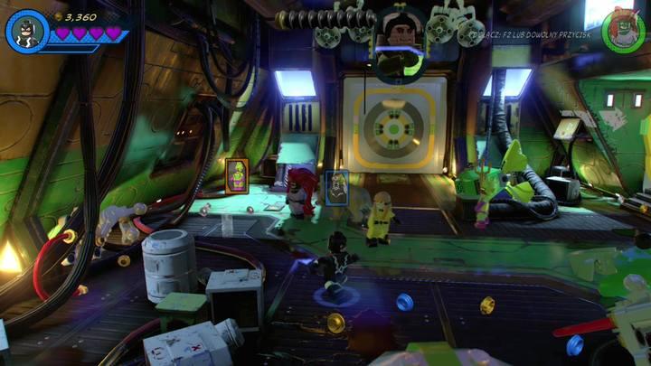 Po odzyskaniu panowania nad postaciami, wybierz Tritona i zniszcz pojemniki po lewej stronie - Misja 13 - Błądzić jest rzeczą nieludzką | Solucja - LEGO Marvel Super Heroes 2 - poradnik do gry