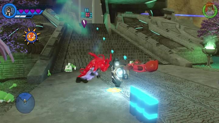 Na początku zadania musisz dotrzeć do głównego budynku w Hali - Misja 14 - Halo, nie rób z tego halo | Solucja LEGO Marvel Super Heroes 2 - LEGO Marvel Super Heroes 2 - poradnik do gry
