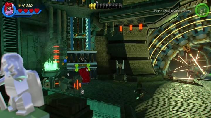 Na początku misji zmień postać na Medusę i podejdź do widocznego na obrazku miejsca - Misja 14 - Halo, nie rób z tego halo | Solucja - LEGO Marvel Super Heroes 2 - poradnik do gry