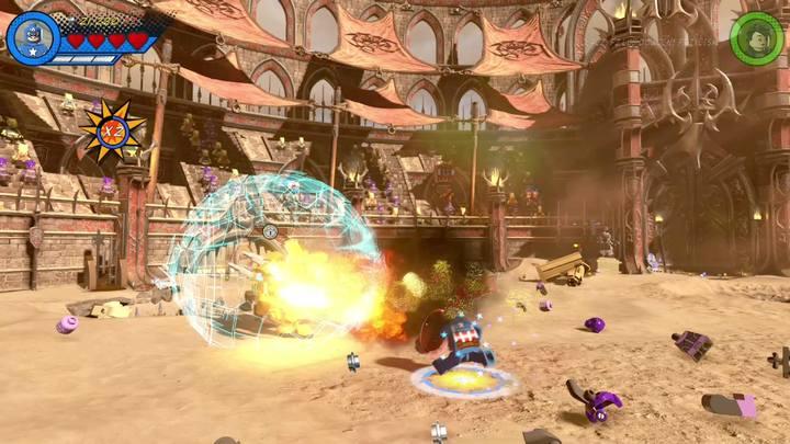 Jak tylko zniszczysz zaczepy, Red King zejdzie na ziemię - Misja 15 - Red King i jego ring | Solucja - LEGO Marvel Super Heroes 2 - poradnik do gry