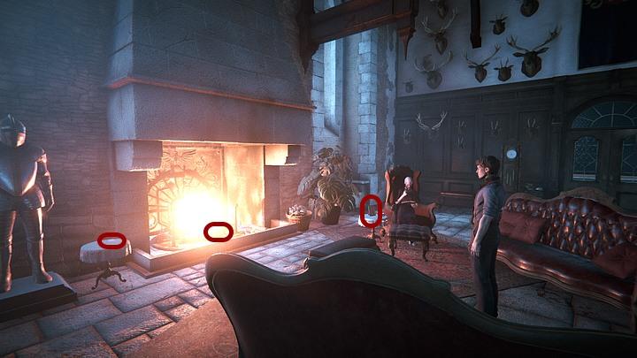 Podejdź do kominka i w zbliżeniu podnieś leżący przy ogniu (po prawej) kolczyk (trzeba przytrzymać LPM, dopóki obrys kółka wskazującego aktywny punkt nie zapełni się na biało) - Dowiedz się, co wie Ailsa | Solucja Black Mirror - Black Mirror - solucja, poradnik