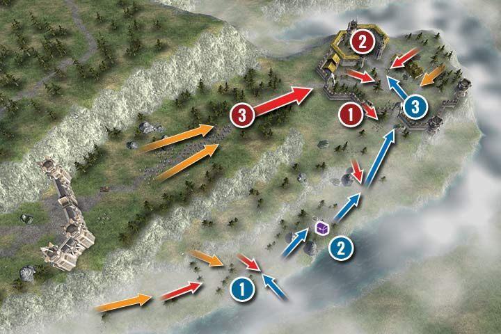 W tej misji dowodzisz jedynie Percivalem - Misja 21 - Elfia Granica | Kampania - Hex Commander - poradnik do gry