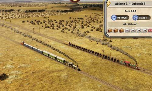 Pociąg ekspresowy (na trasie poniżej) mknie z zawrotną prędkością 170 kilometrów na godzinę, podczas gdy pociąg towarowy nad nim, osiąga połowę tej prędkości. Gdyby te pociągi jechały na jednej linii, prędzej czy później wolniejszy blokował by szybszego. Dzięki oddzielnym trasom, pociąg ekspresowy przynosi duże dochody. - Pociągi Ekspresowe i Towarowe w Railway Empire - Railway Empire - poradnik do gry