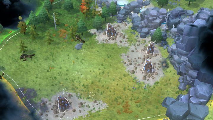 Strefa, będąca dużym złożem żeleża. - Northgard - Surowce budowlane | Mechanika gry - Northgard - poradnik do gry