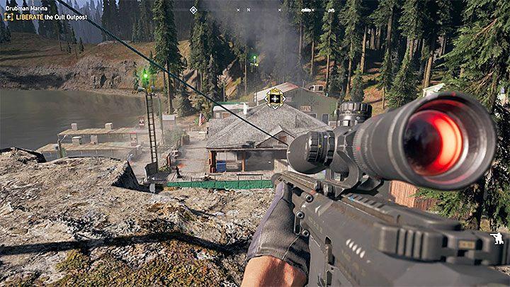 Wyrusz do Mariny Drubmanów (Drubman Marina) - Przyjazne niebo - nowy towarzysz | Rzeka Henbane - Far Cry 5 - poradnik do gry