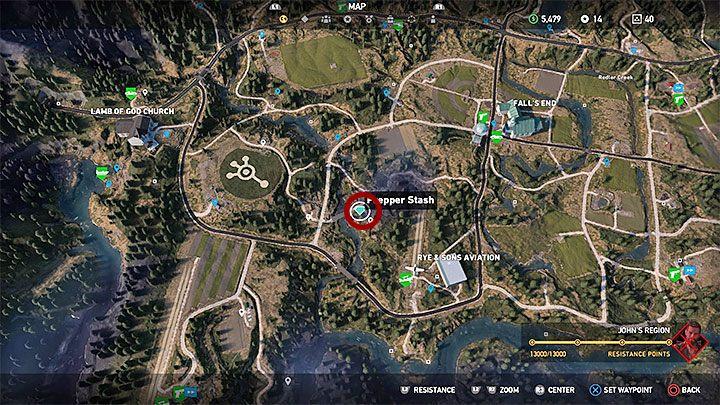 To jedna ze skrytek prepperskich w Dolinie Holland - Lokacje kultu i skrytki prepperskie | Dolina Holland - Far Cry 5 - poradnik do gry